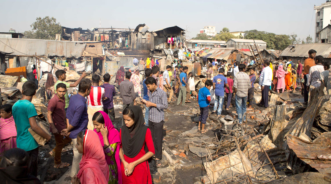 BRAC stands by fire victims of Sattala slum