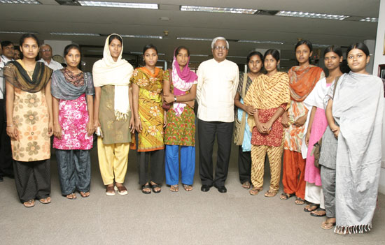 BRAC-Rai Foundation Scholarship-2009 recipient students met BRAC Chairperson Fazle Hasan Abed at his office