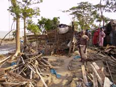 destroyed house by cyclone aila