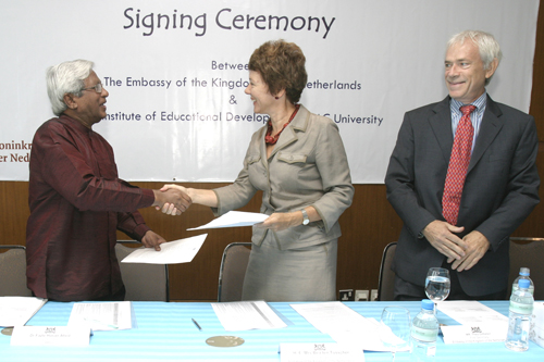Netherlands support for Institute OF Educational Development