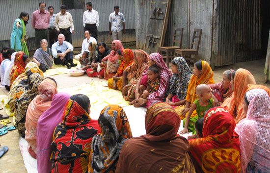 US Ambassador Observing Activities of a BRAC Village Organiation Meeting at Dhanua village of Sreepur upazila